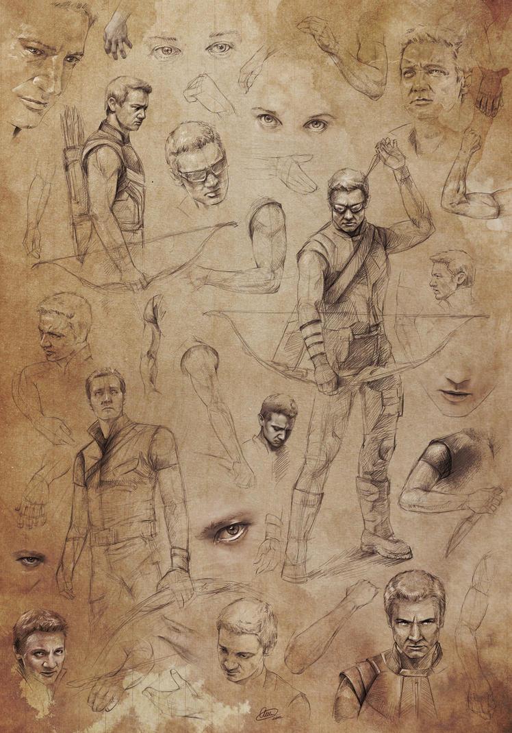 Hawkeye (JR) study... by Syllirium