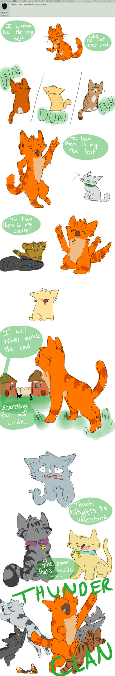 Dare #2 - Firestar - ThunderClan Theme by warriorcats-ask