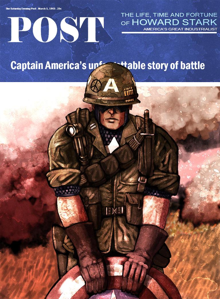 Captain America Poster 2 by InfernalFinn