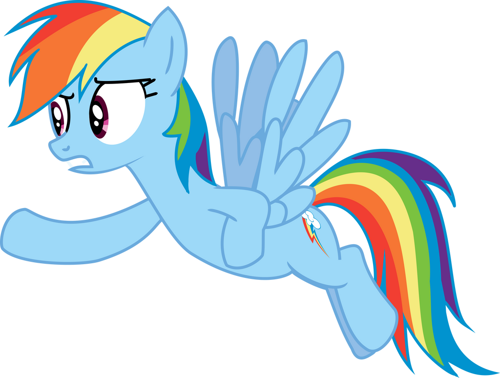 Rainbow Dash Vector by Puppetkamon