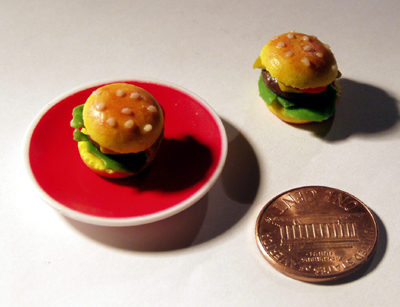 Miniature Hamburger by ChocolateDecadence