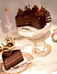 Chocolate Cream Cake by ChocolateDecadence