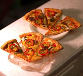 Miniature Pizza Slices