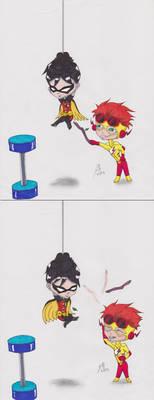 Chibis: KF pokes Robin