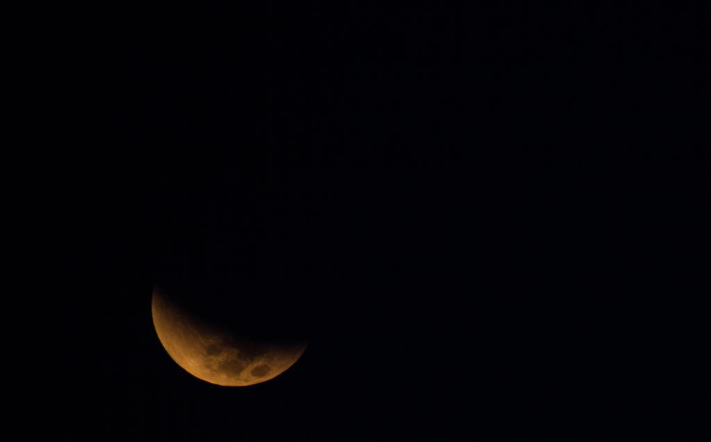 Partial Lunar Eclipse by ShamanQueen1994