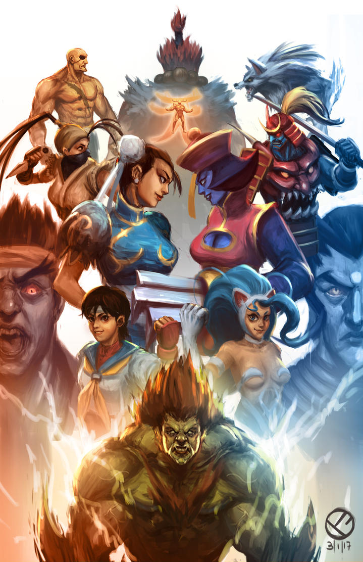 Street Fighter vs Darkstalkers by mazingerpip