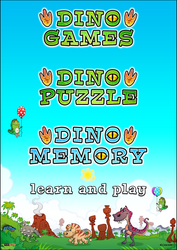 Logo Design for Dino Games by KrzysztofCzachura
