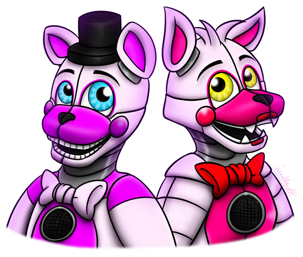 Funtime freddy foxy fnaf sister location by zoruathewolf1 on
