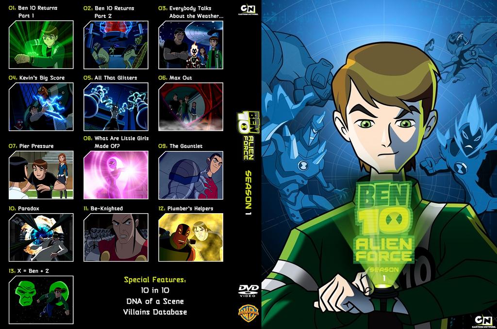 Ben 10 Alien Force season 1 DVD insert by shinyhappygoth on