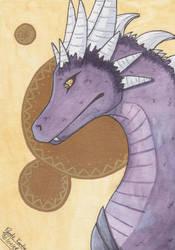 Watercolor Dragon by PyodeKantra
