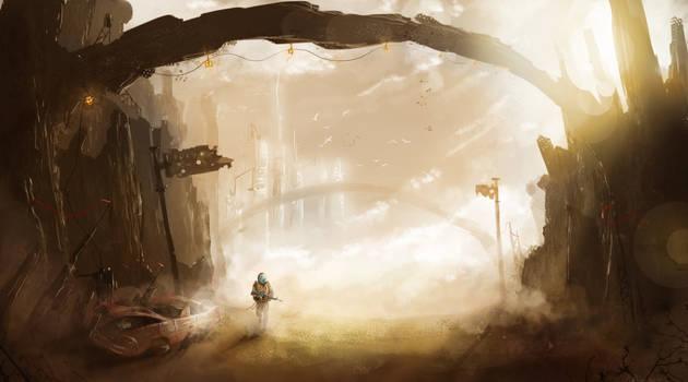 Desert City Path