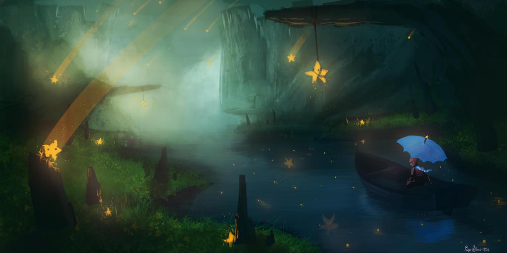 falling stars speed paint by ShinoShoe26