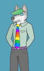 Der Regenbogen Krawatte by Arranyan