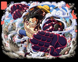 Monkey D. Luffy Gear 4 Bound Man by bodskih