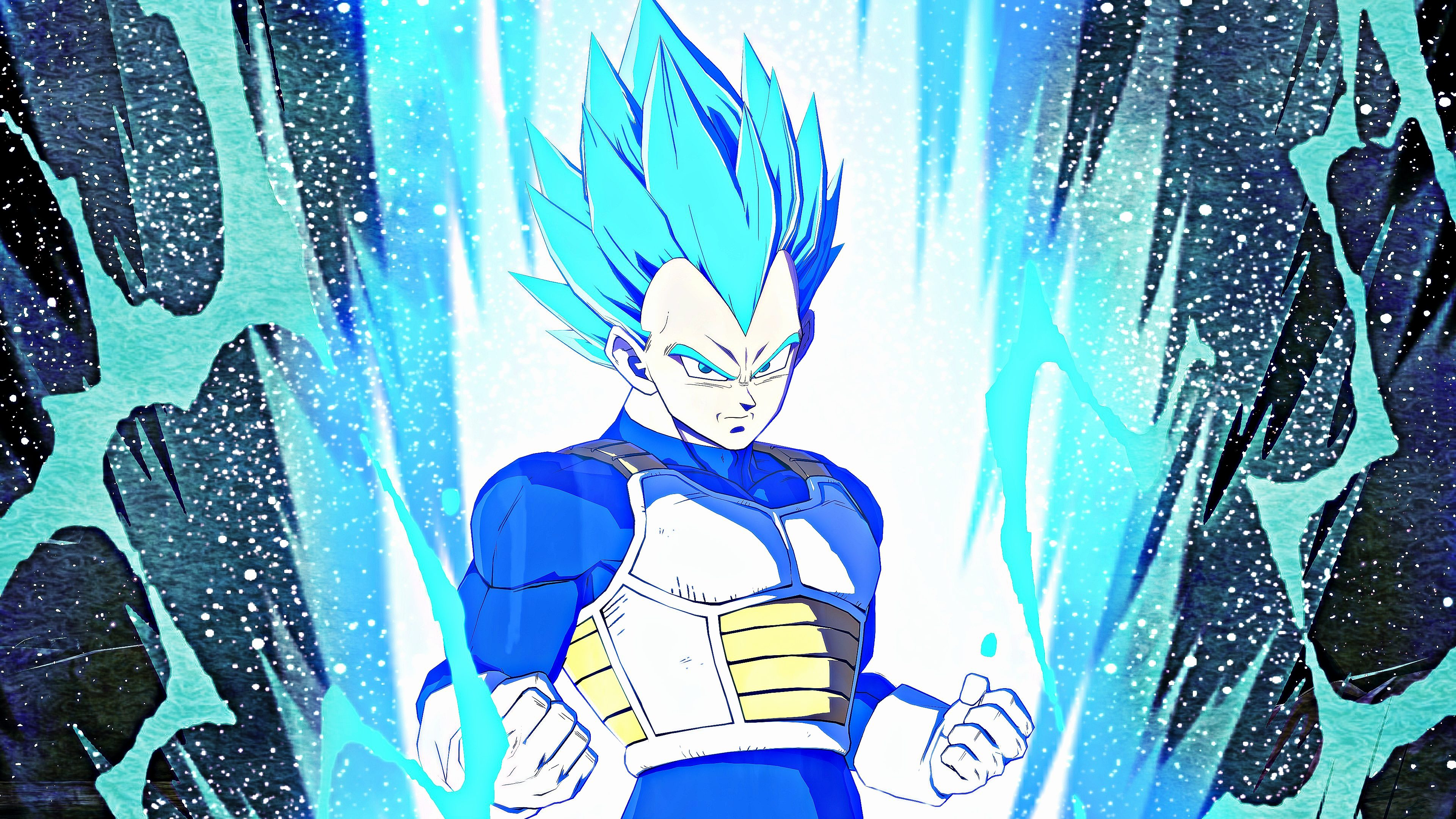 vegeta ssj blue 4k wallpaper : dragonballfighterz