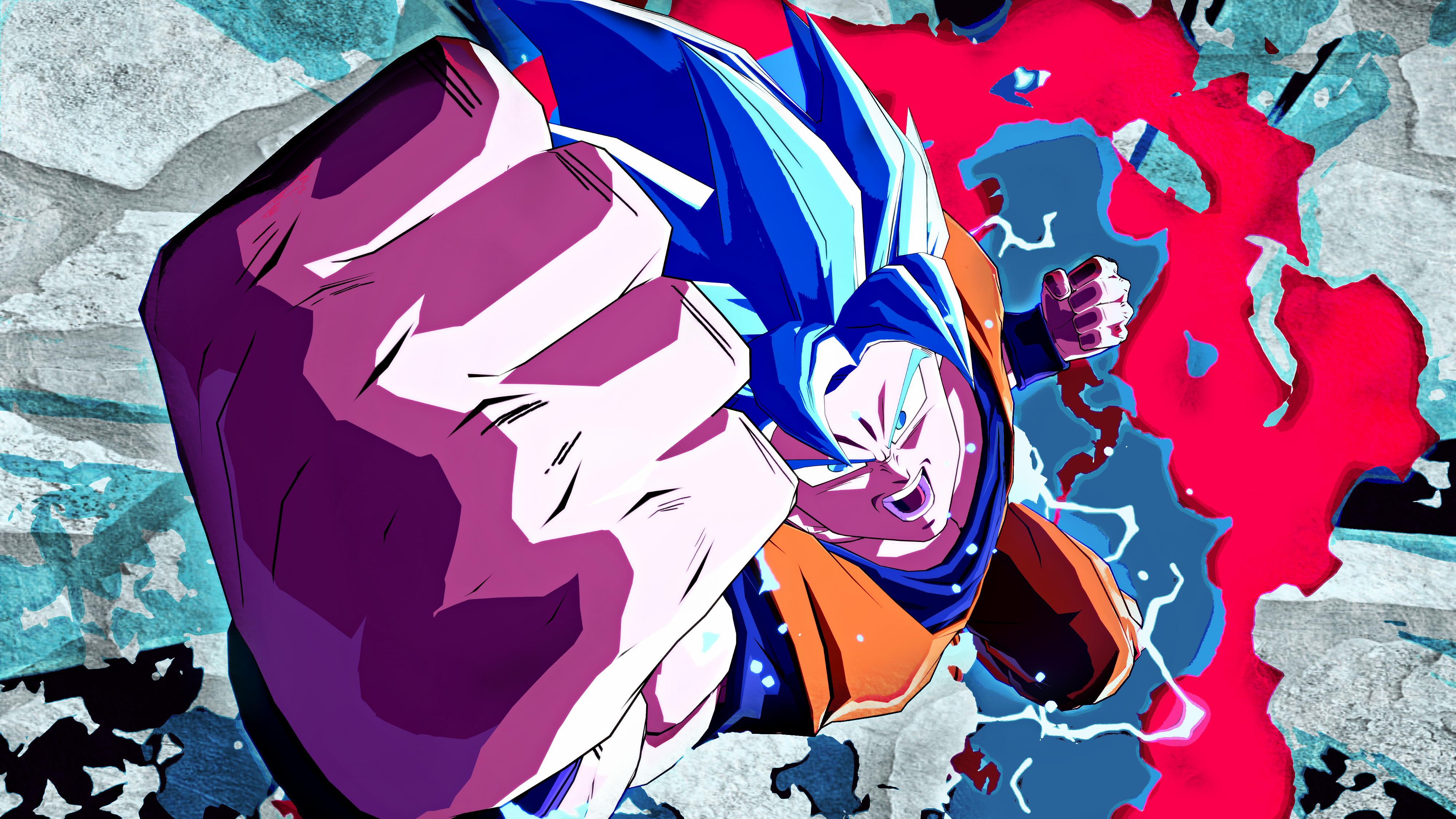 Son Goku Ssj Blue Kaioken 4k Wallpaper Dragonballfighterz