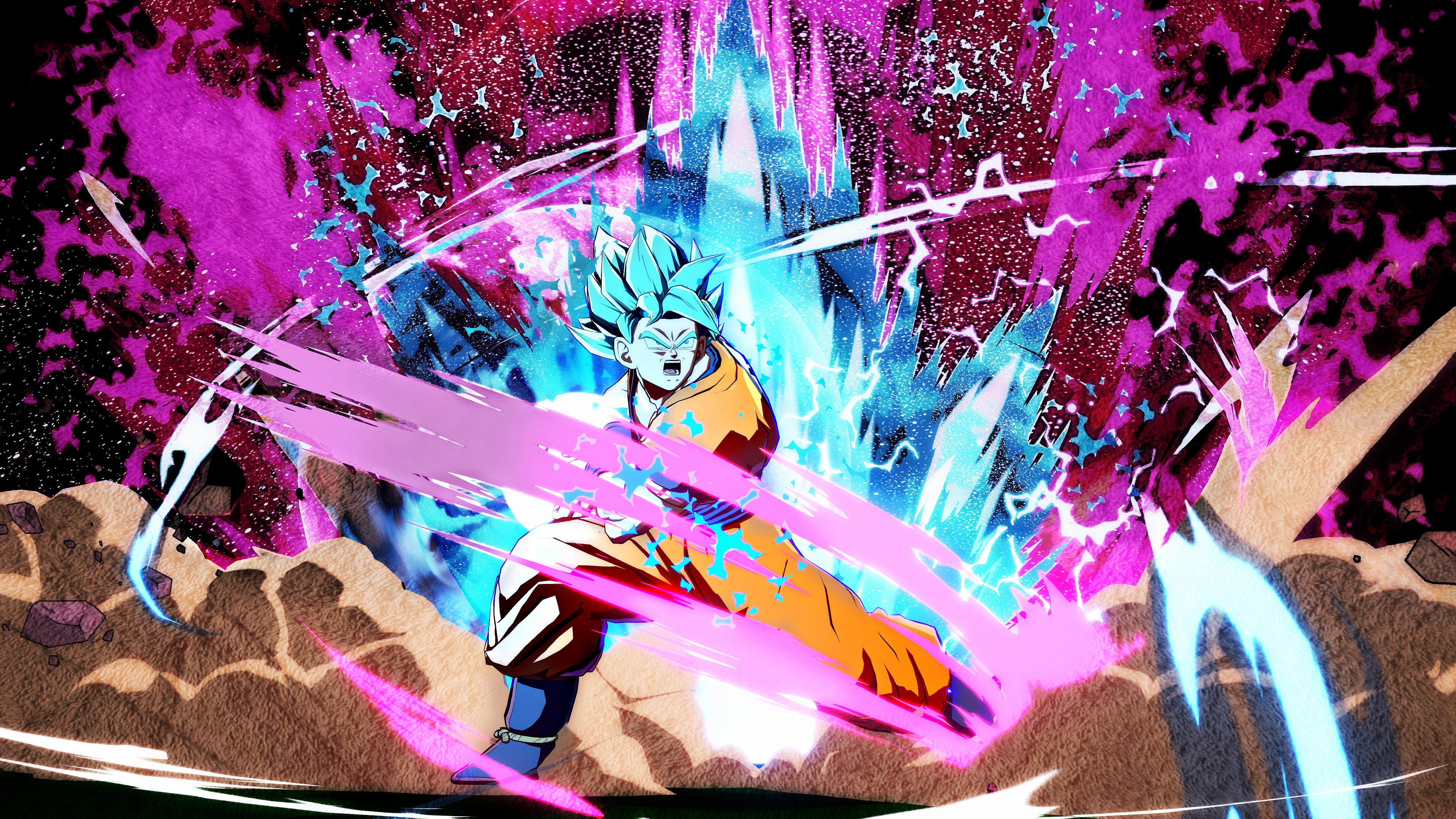 Son Goku Ssj Blue 4k Wallpaper Dragonballfighterz