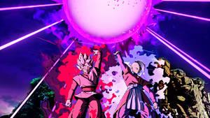 Goku Black SSJ Rose and Zamasu