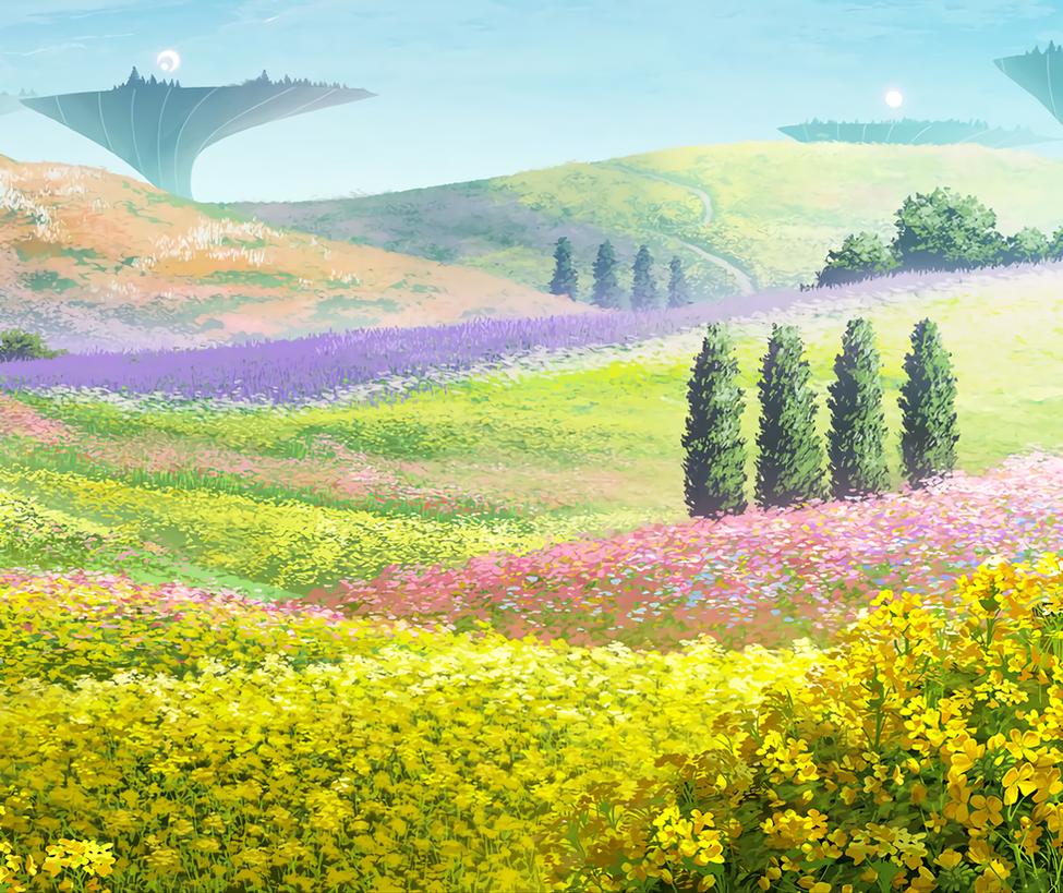 field flower scenery by bodskih on deviantart