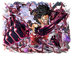 Monkey D. Luffy Gear 4 Snake Man by bodskih