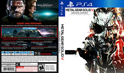 Metal Gear Solid V Ground Zeroes PS4 Cover Art by bodskih