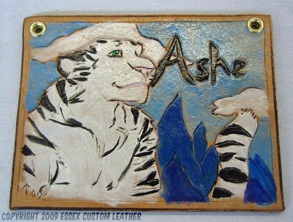 Leather Con Badge: Ashe