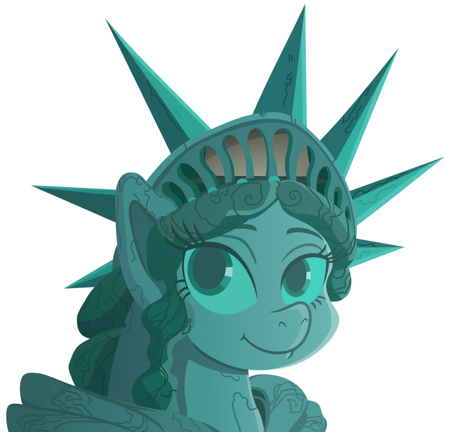Statue of Pony of Liberty by Reginault