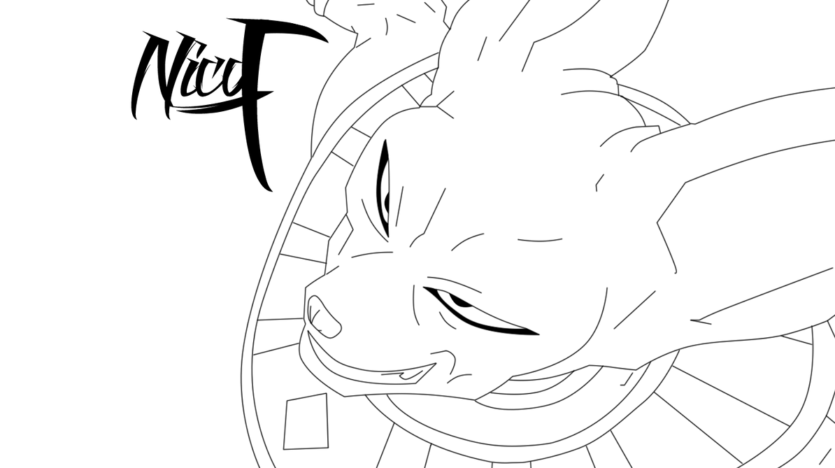 LineART Bills  Dbz  By  Naxo99 by Naxo99Bills Dbz Drawing