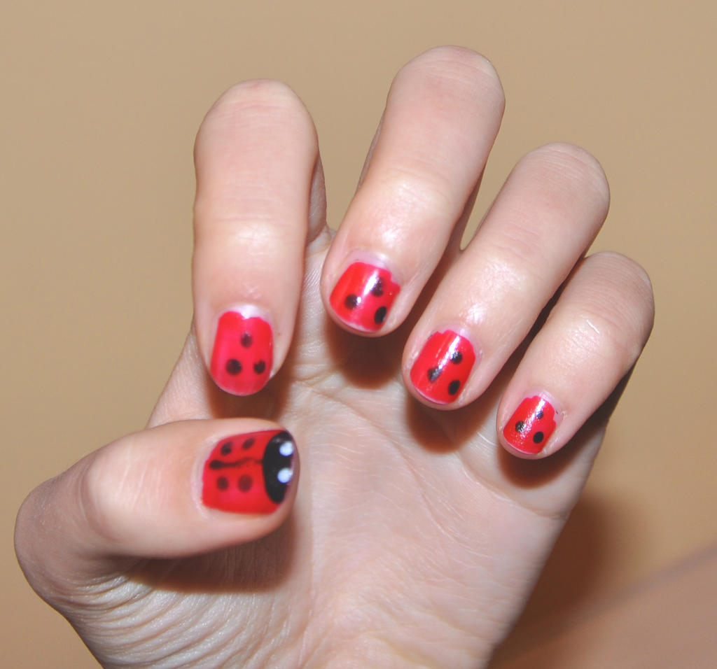 ladybug nail art by rose emblum traditional art body art cosmetic