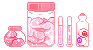 organs in jars pixel by LlNGERlE
