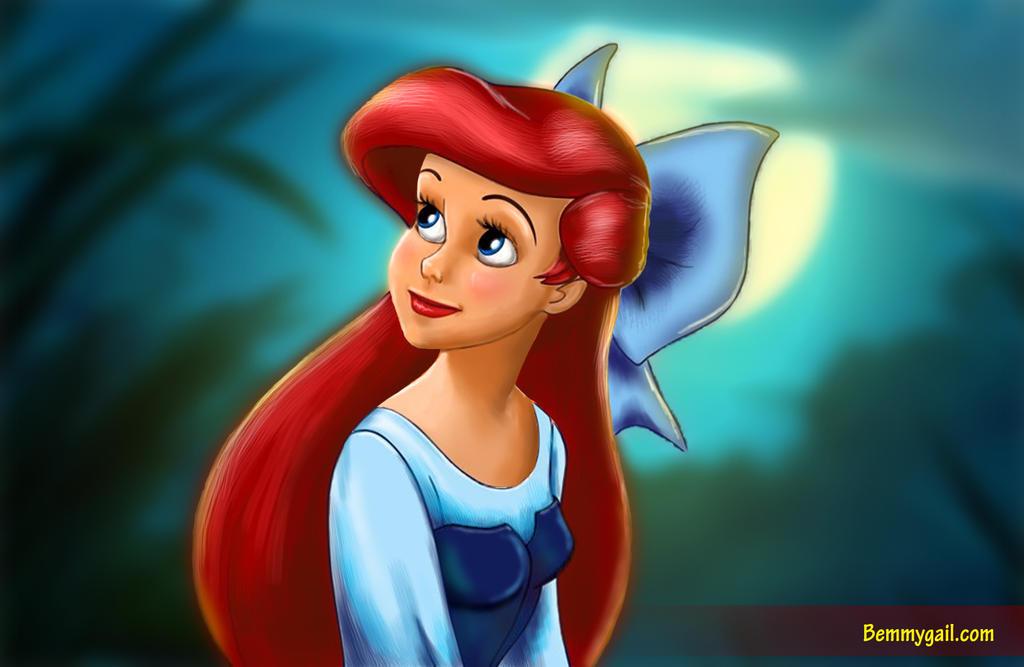 Ariel Little Mermaid Digital Painting by digitalartistbem ...