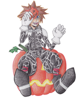 Halloween Town Sora s by colormymemory