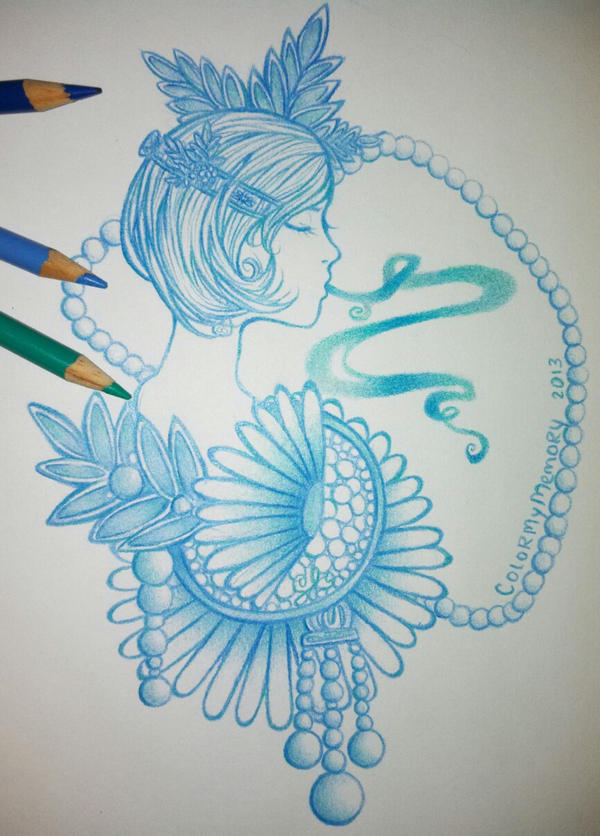 Drawing Dasies in Cool Colors by colormymemory on DeviantArt