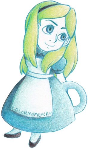 Alice Teacup by colormymemory