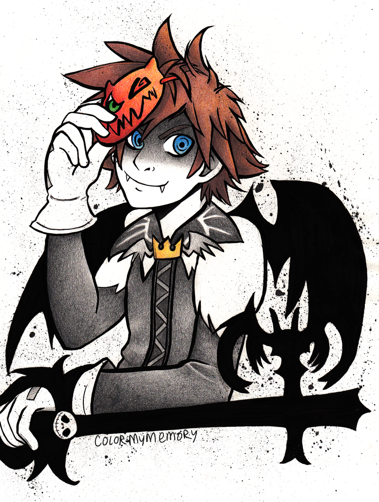 Inktober: Halloween Town Sora by ColorMyMemory