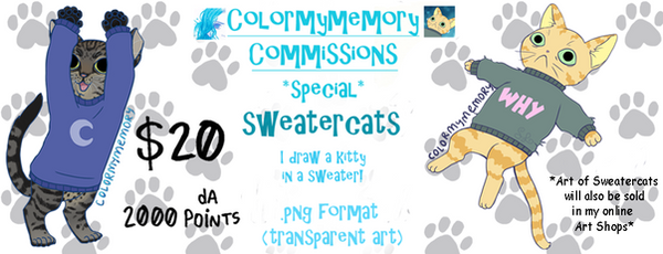 [CLOSED new sheet is up] thesweatercats customs! by colormymemory