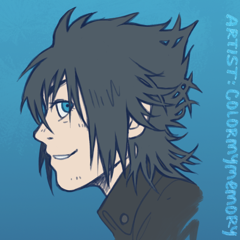 Noctis sketch - side 2 by colormymemory