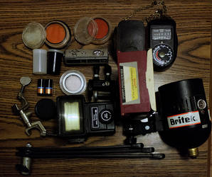 Old Camera Equipment.