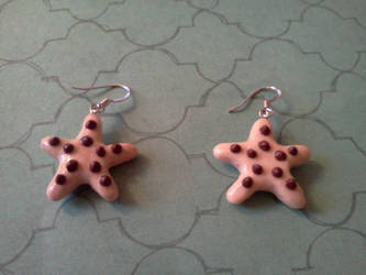 Chocolate Chip Starfish earrings by TheOwlsRoost