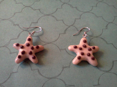 Chocolate Chip Starfish earrings