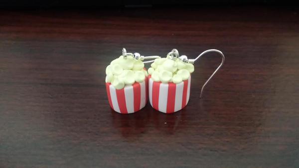 Popcorn Bucket Earrings by TheOwlsRoost