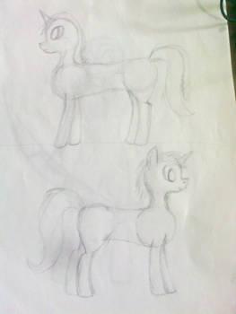 Practica Boceto pony 01-02