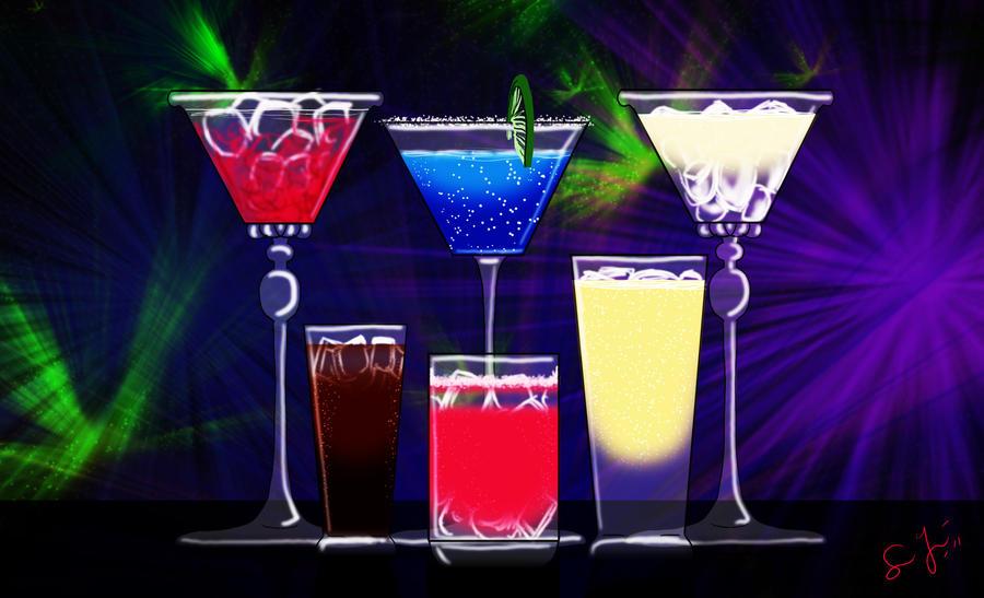 Neon Alcoholic Drinks ...