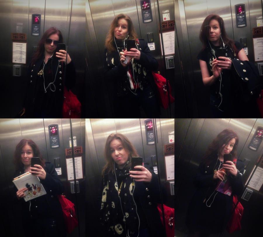 Selfies in the Elevator by Jullelin