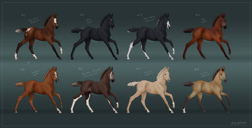 Thoroughbred Foals of Rosendal - 27 minutes left by Jullelin