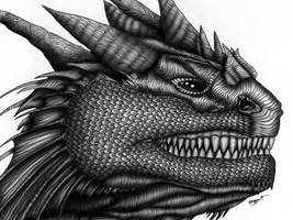 Dragon Teeth - Ballpoint + by machine-guts