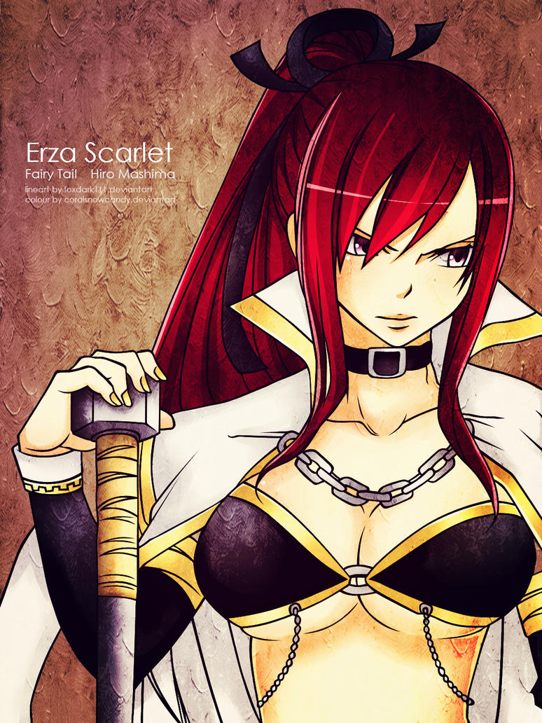 Erza Scarlet by coralsnowcandy