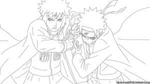 Naruto Rasengan- Lineart by zeth3047