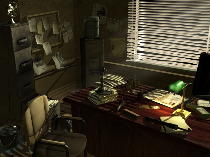 Detective 39 s office by johnvega3d on deviantart for Model agency apartments