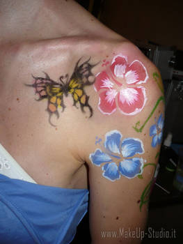 bachelorette body painting 1